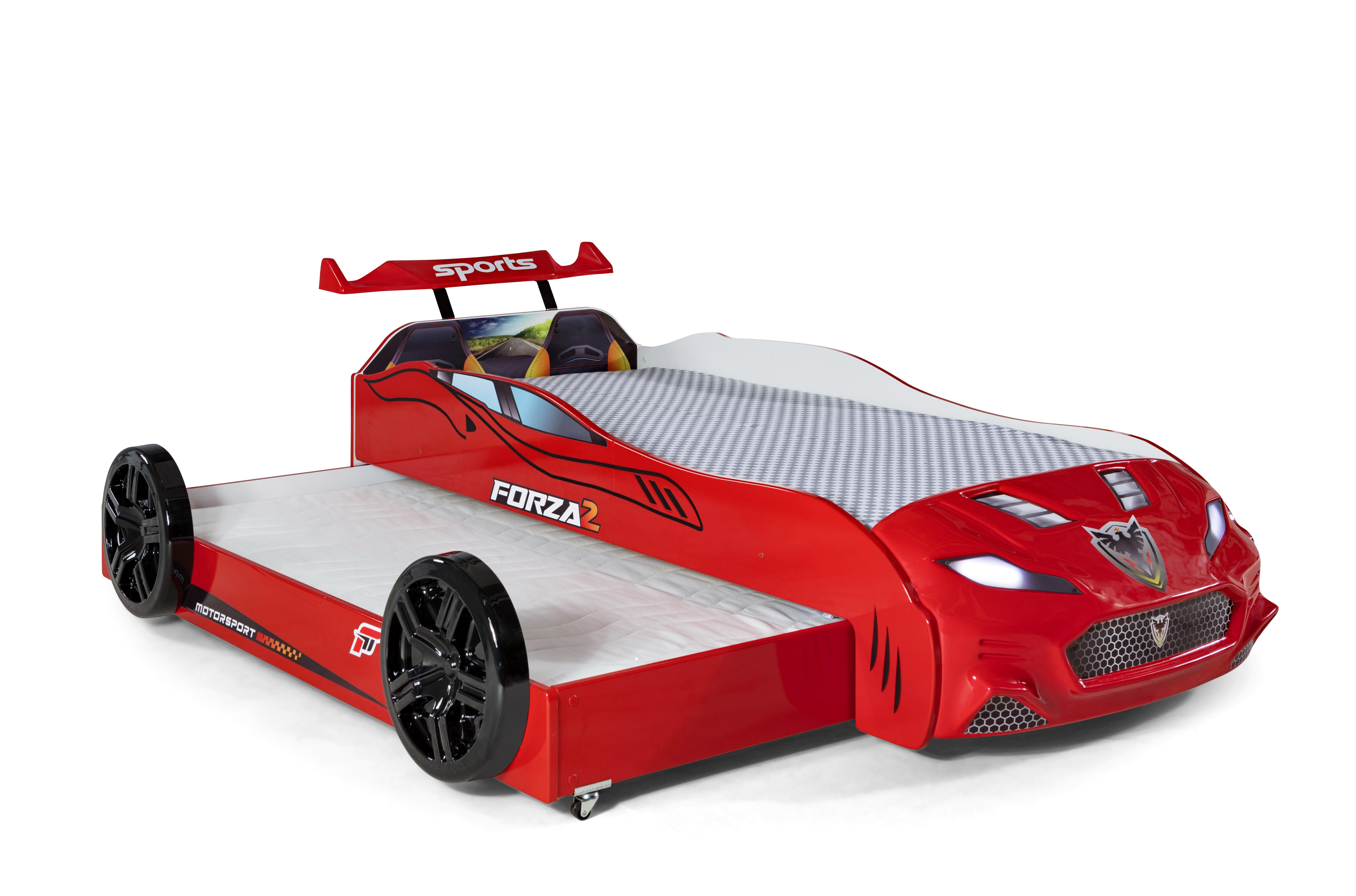 Autobett Coupe mit Gästebett Forza 2 Rot