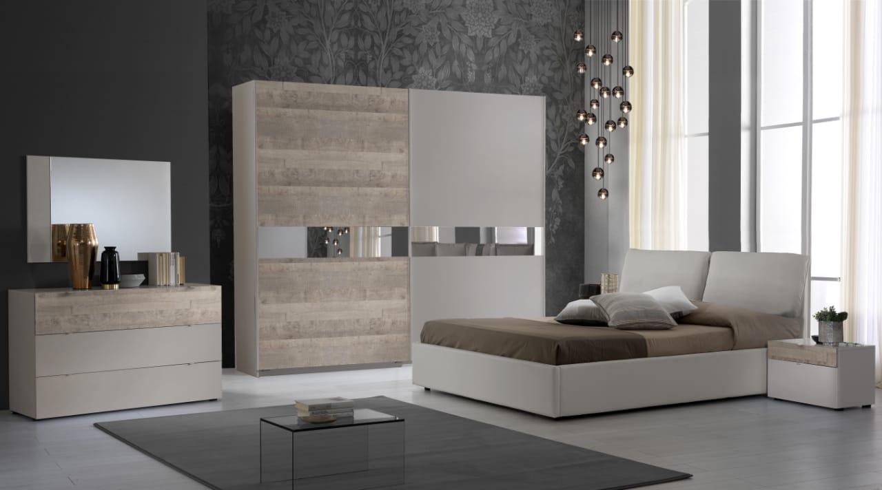 Schlafzimmer Komplett  Set Agata 6-Teilig