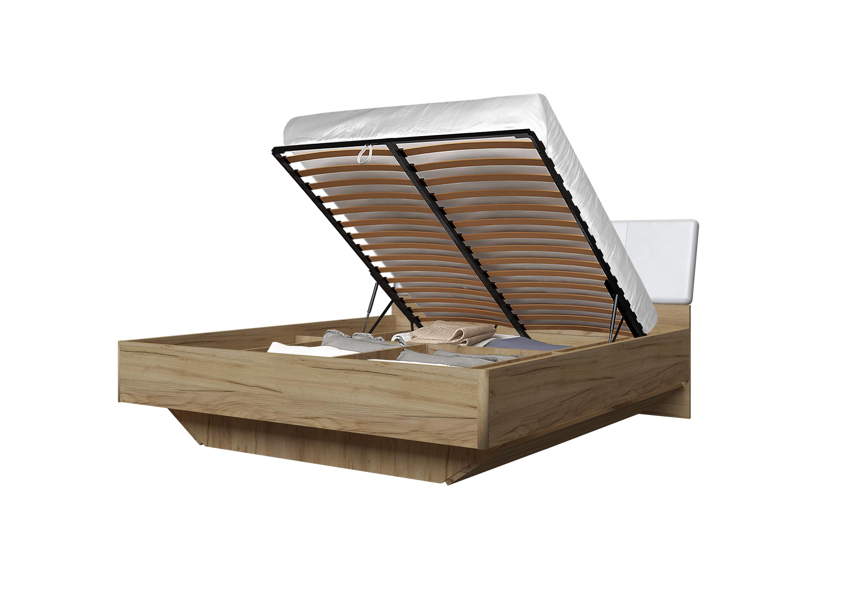 Doppelbett Toskana 180x200 in Eiche/Weiss inkl. Bettkasten