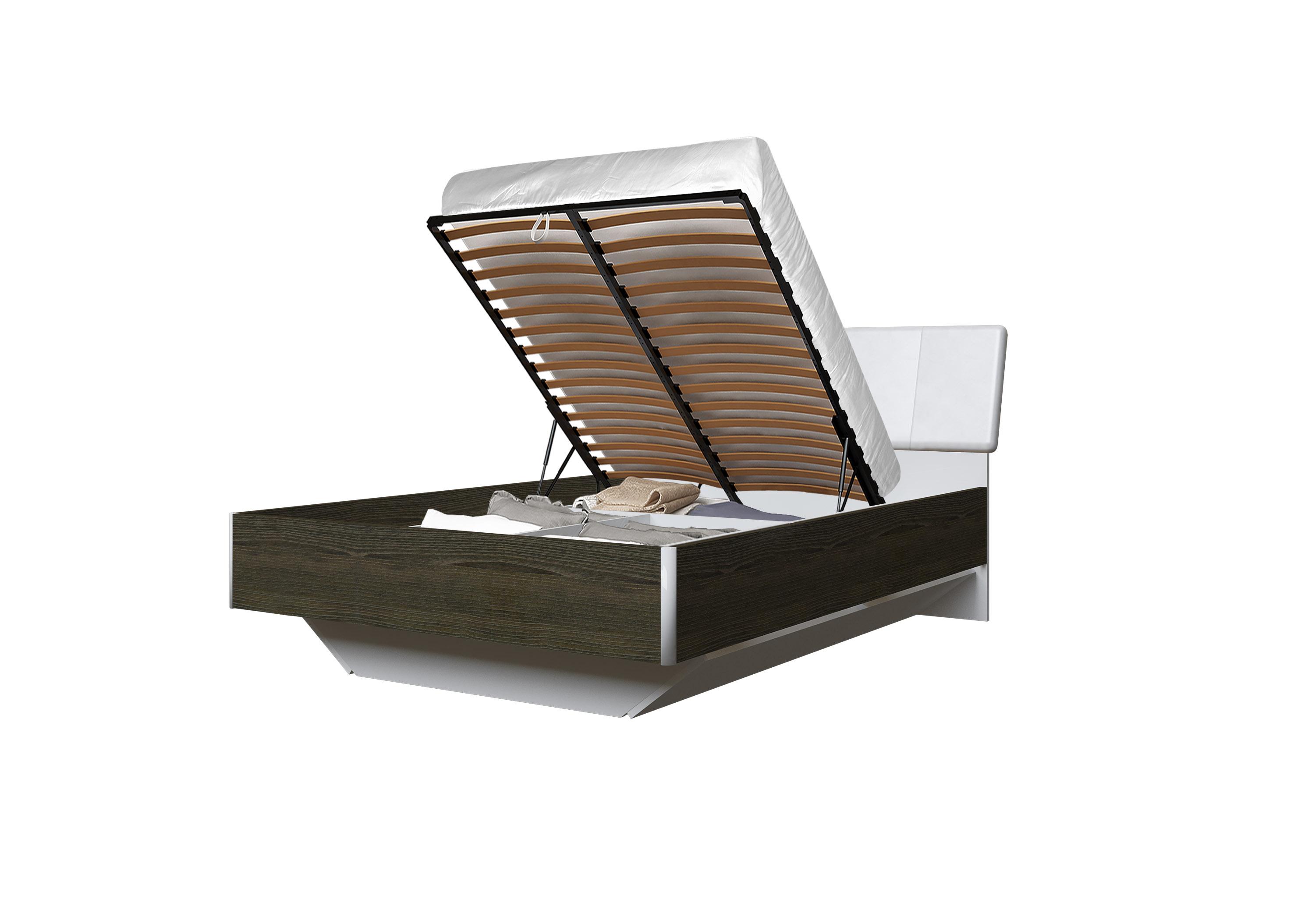 Doppelbett Toskana 140x200 in Dunkle Buche inkl. Bettkasten