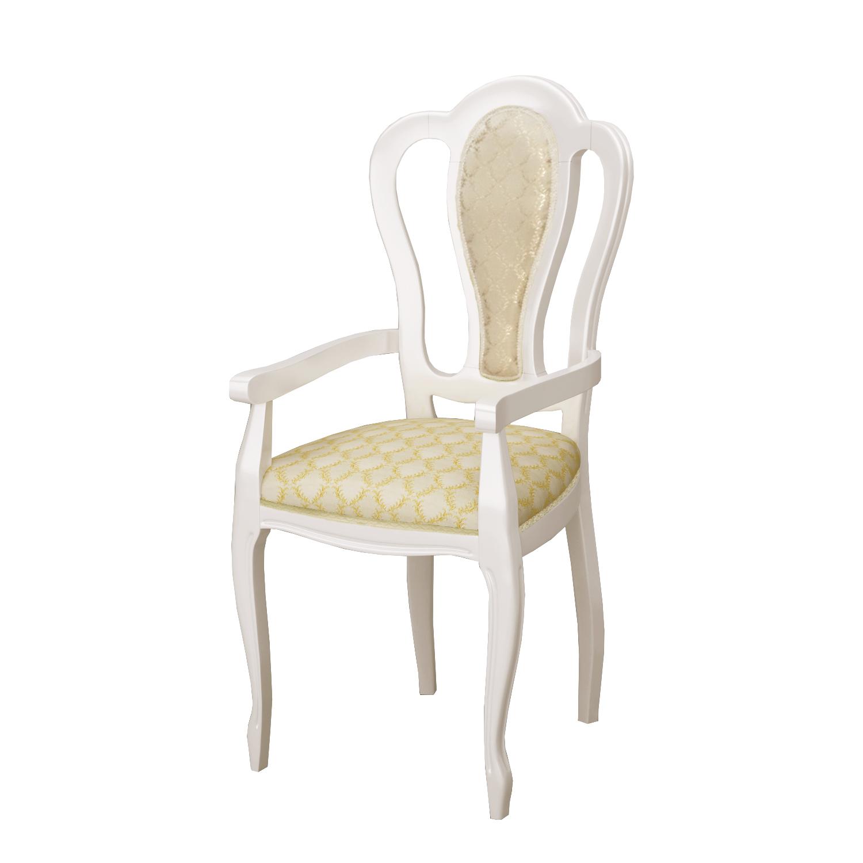 Barock Sessel Remo in Beige Hochglanz