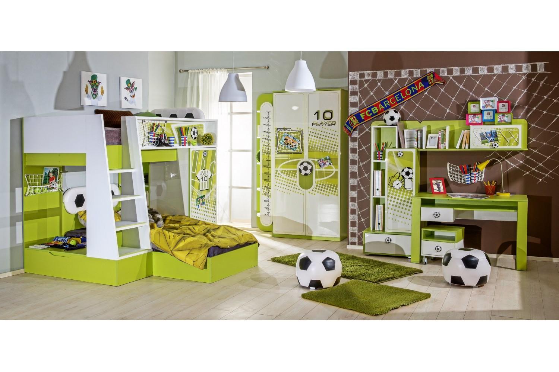Kinderzimmer Football inkl. Etagenbett 8-Teilig