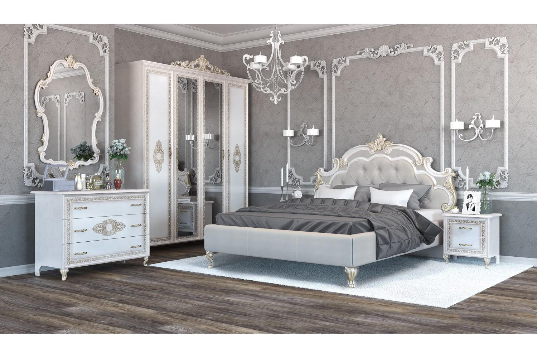 Barock Schlafzimmer Komplett Medea 6-Teilig in Beige