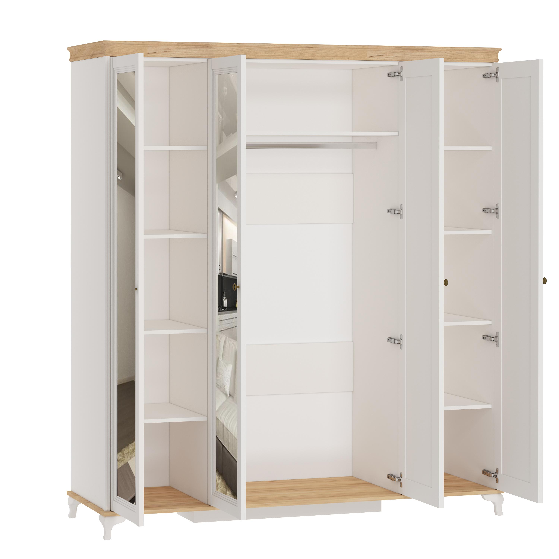 Kleiderschrank 4-Türig Villagio mit Spiegeltüren