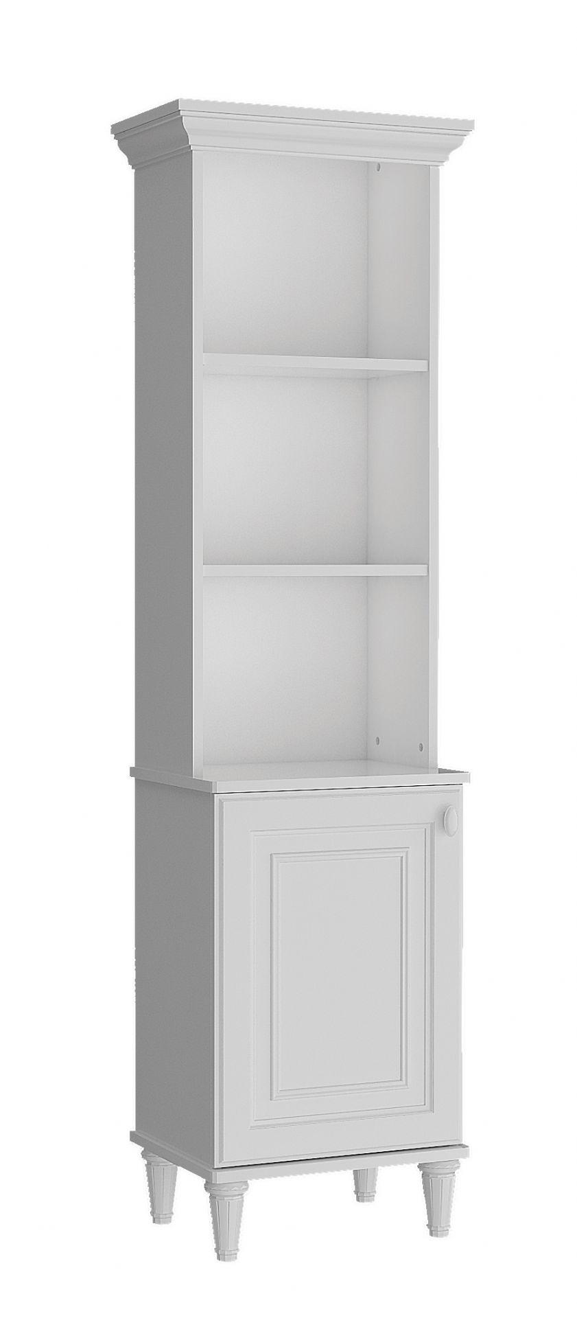 Bücherregal Lory mit Tür in Weiss