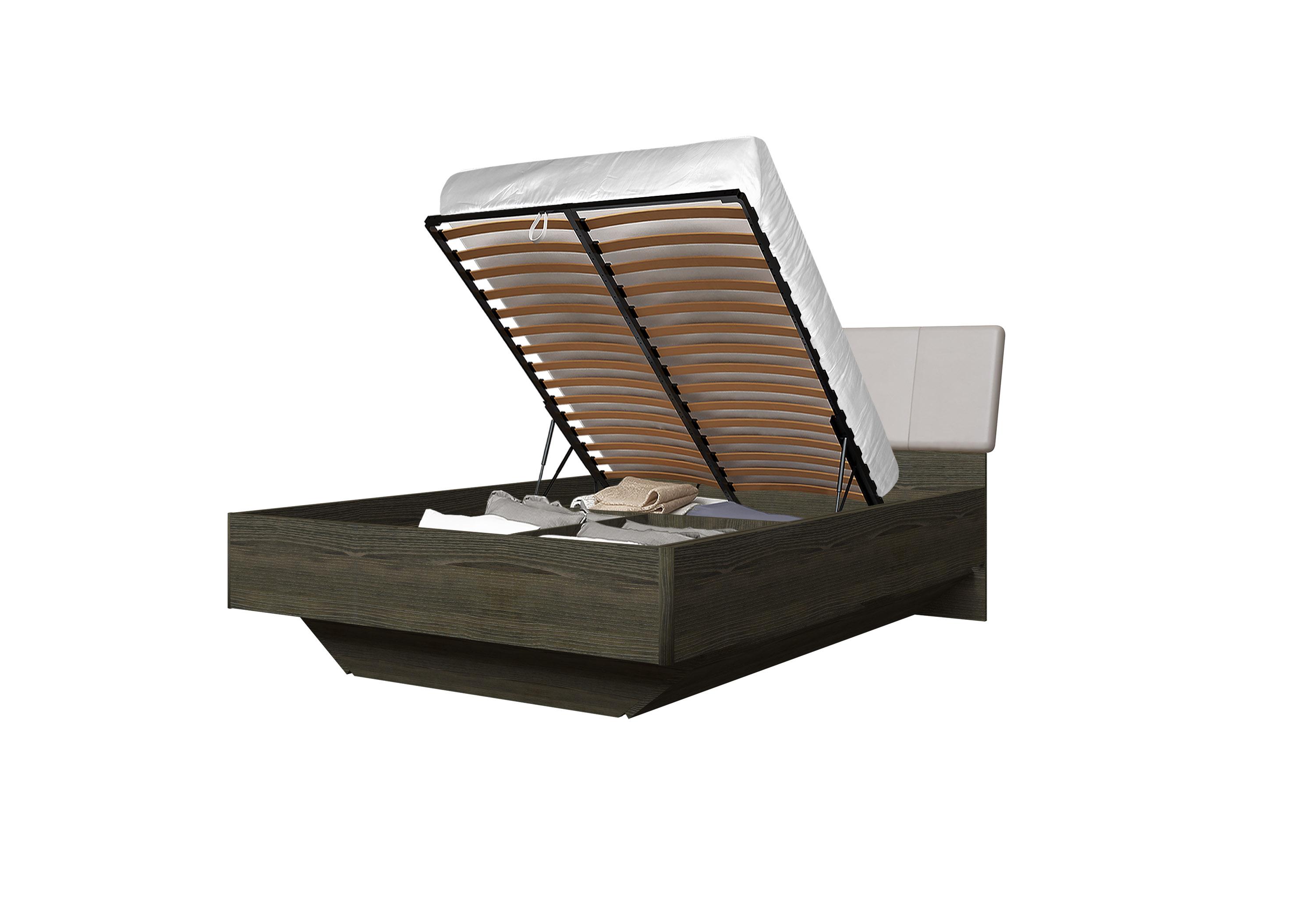 Doppelbett Toskana 140x200 in Dunkle Buche/Cappuccino inkl. Bettkasten