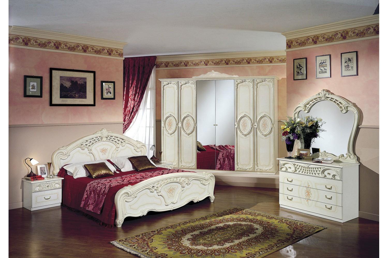 Barock Schlafzimmer Remo in Beige 6-Teilig