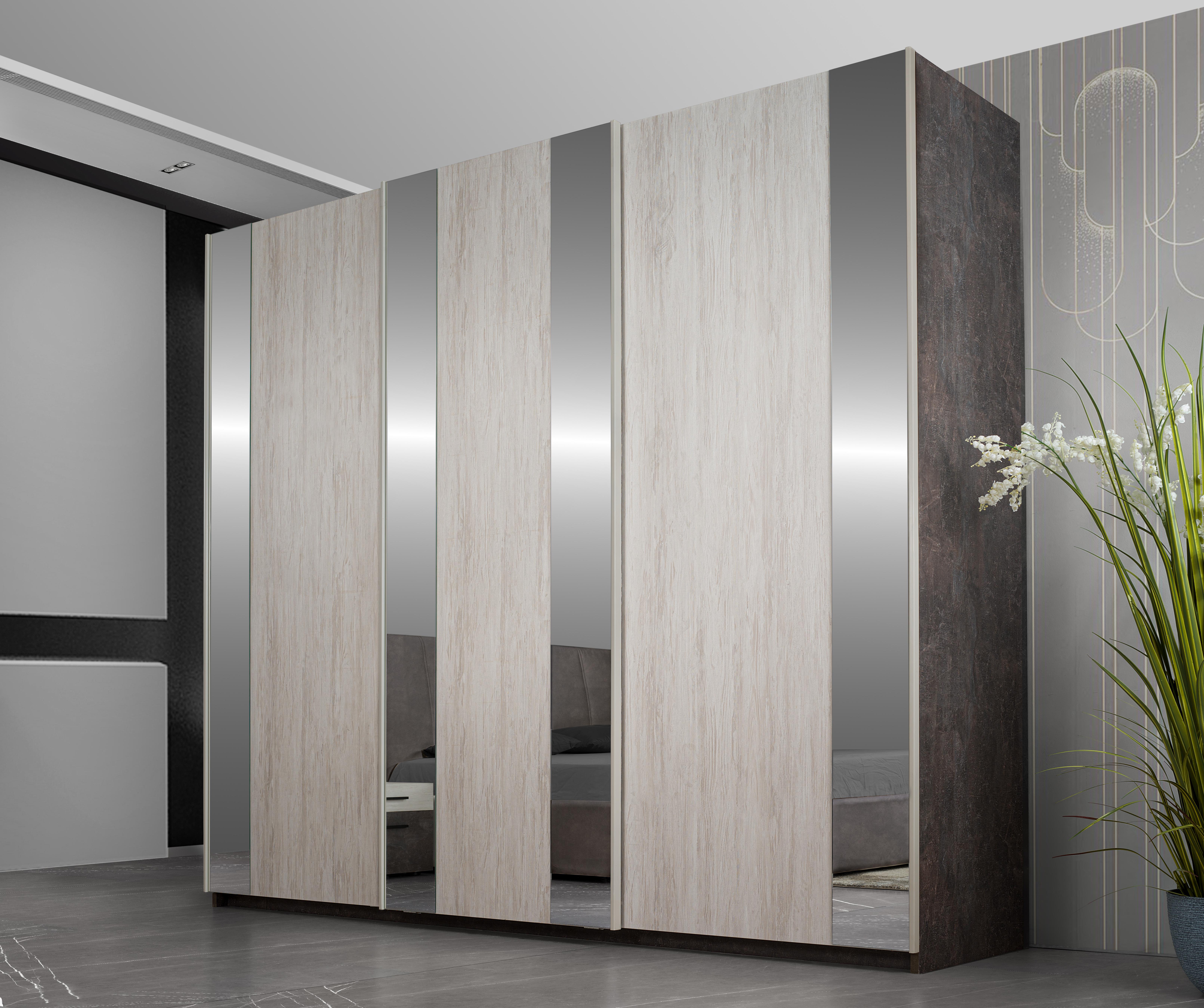 Schlafzimmer Komplett Leana in Braun 6-Teilig