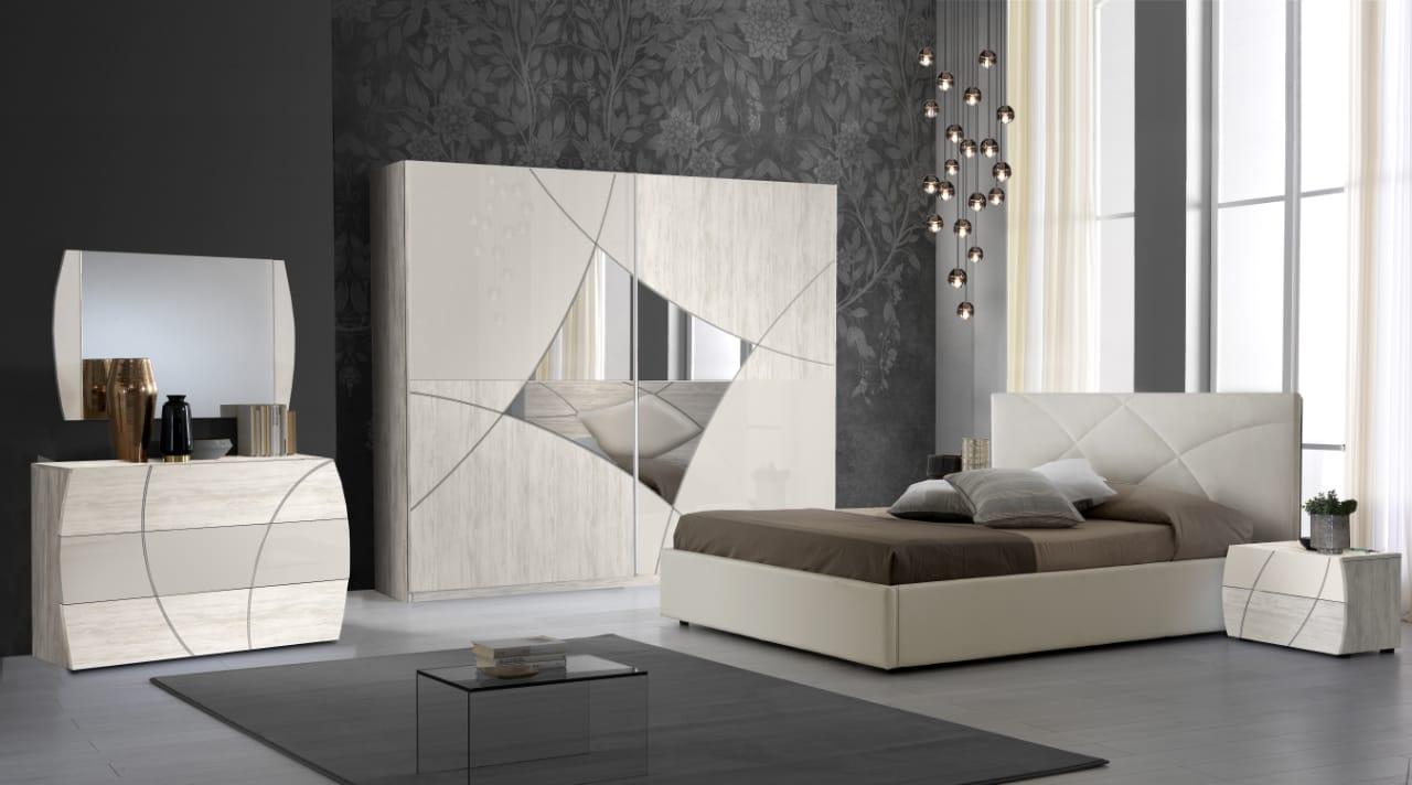 Schlafzimmer Komplett Set Atom 6-Teilig