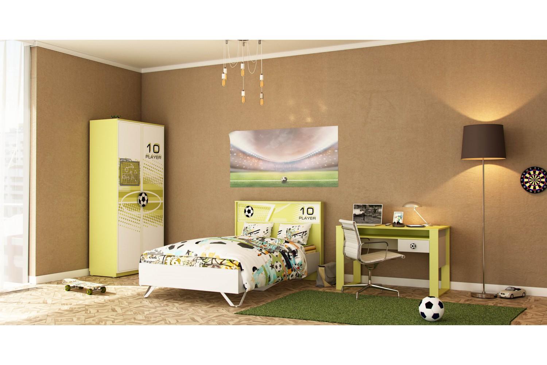 Kinderzimmer Komplett Football 3-Teilig