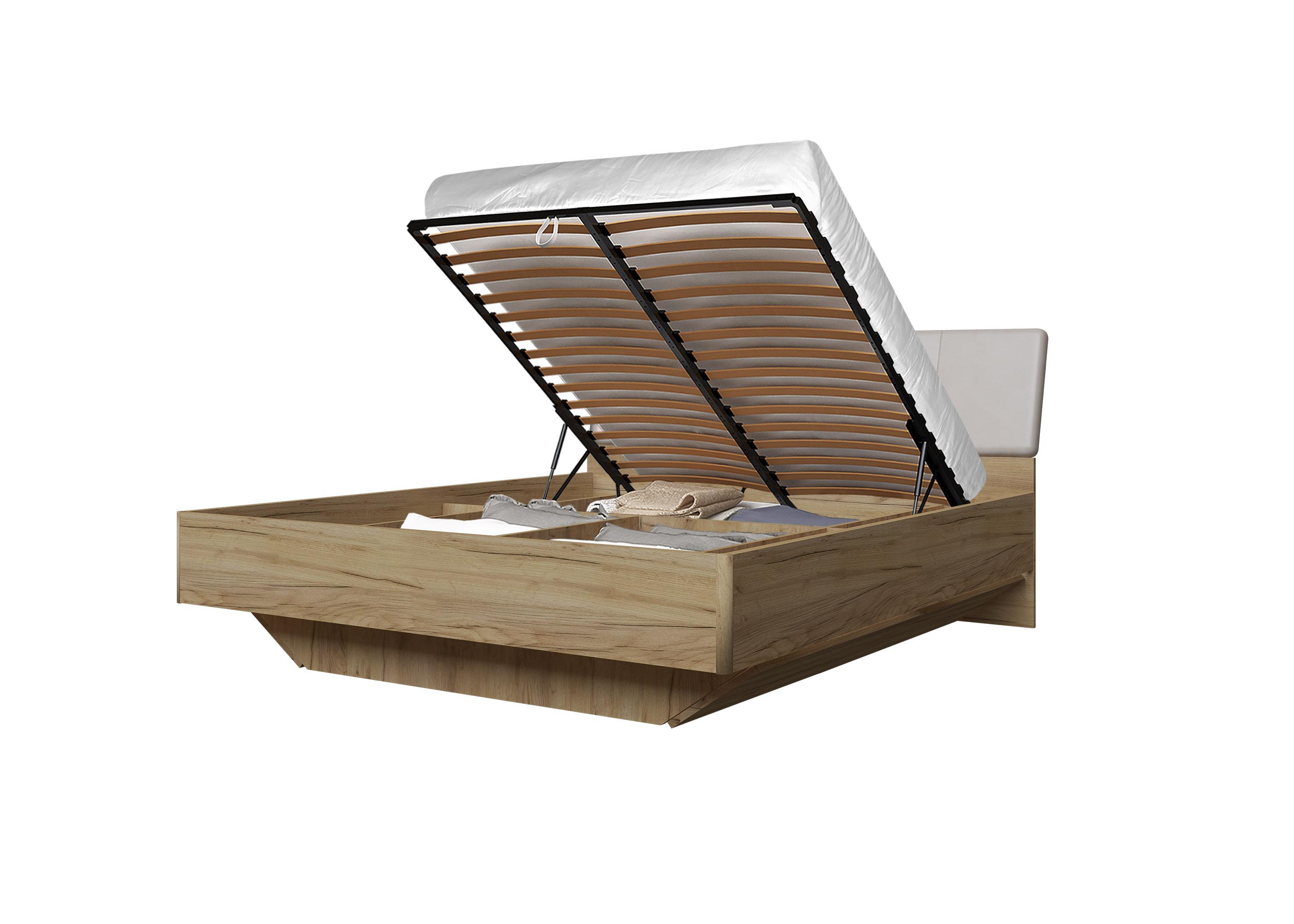 Doppelbett Toskana 180x200 in Eiche/Cappuccino inkl. Bettkasten
