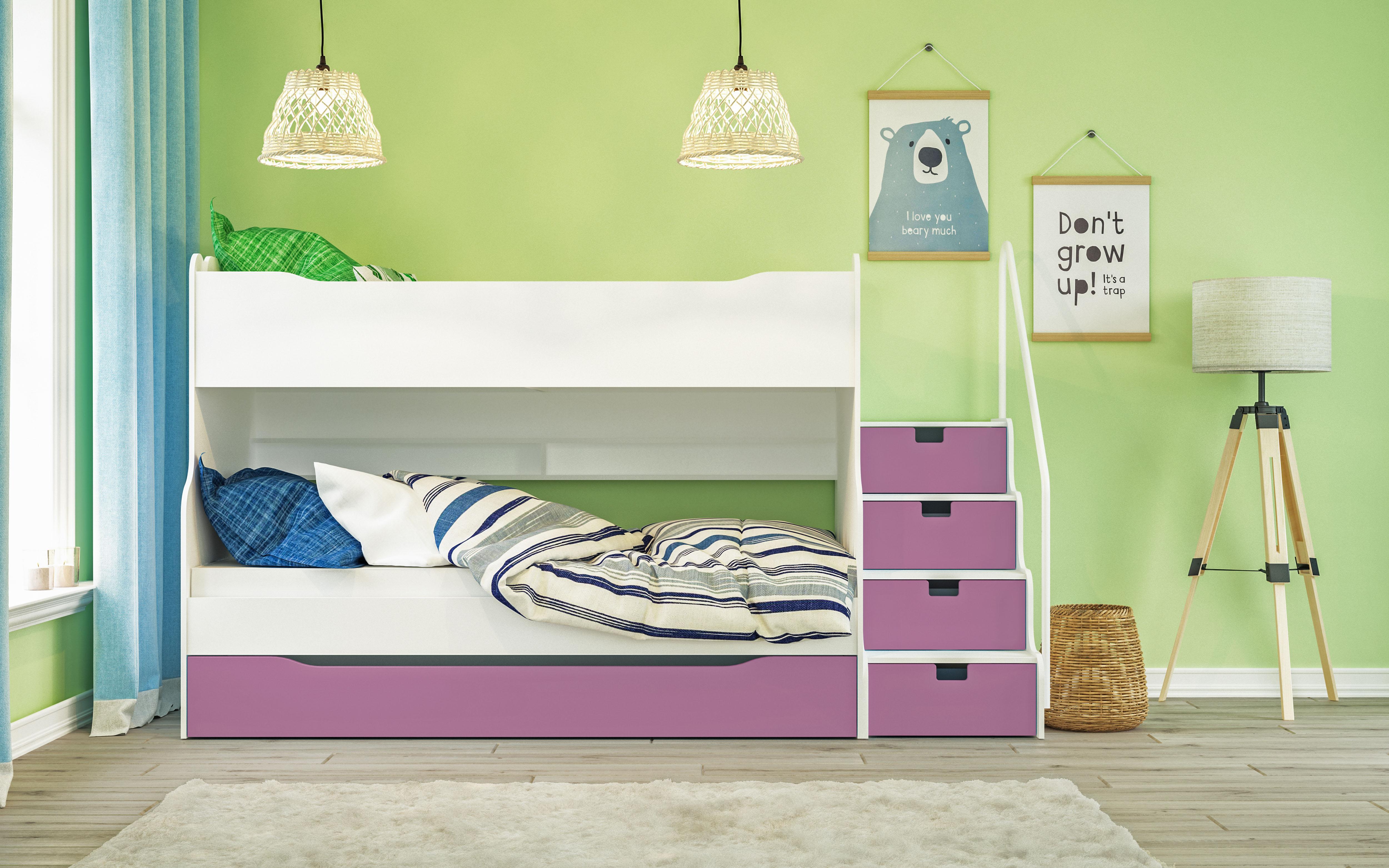 Etagenbett Maxi 4 inkl. Lattenroste in verschiedenen Farben