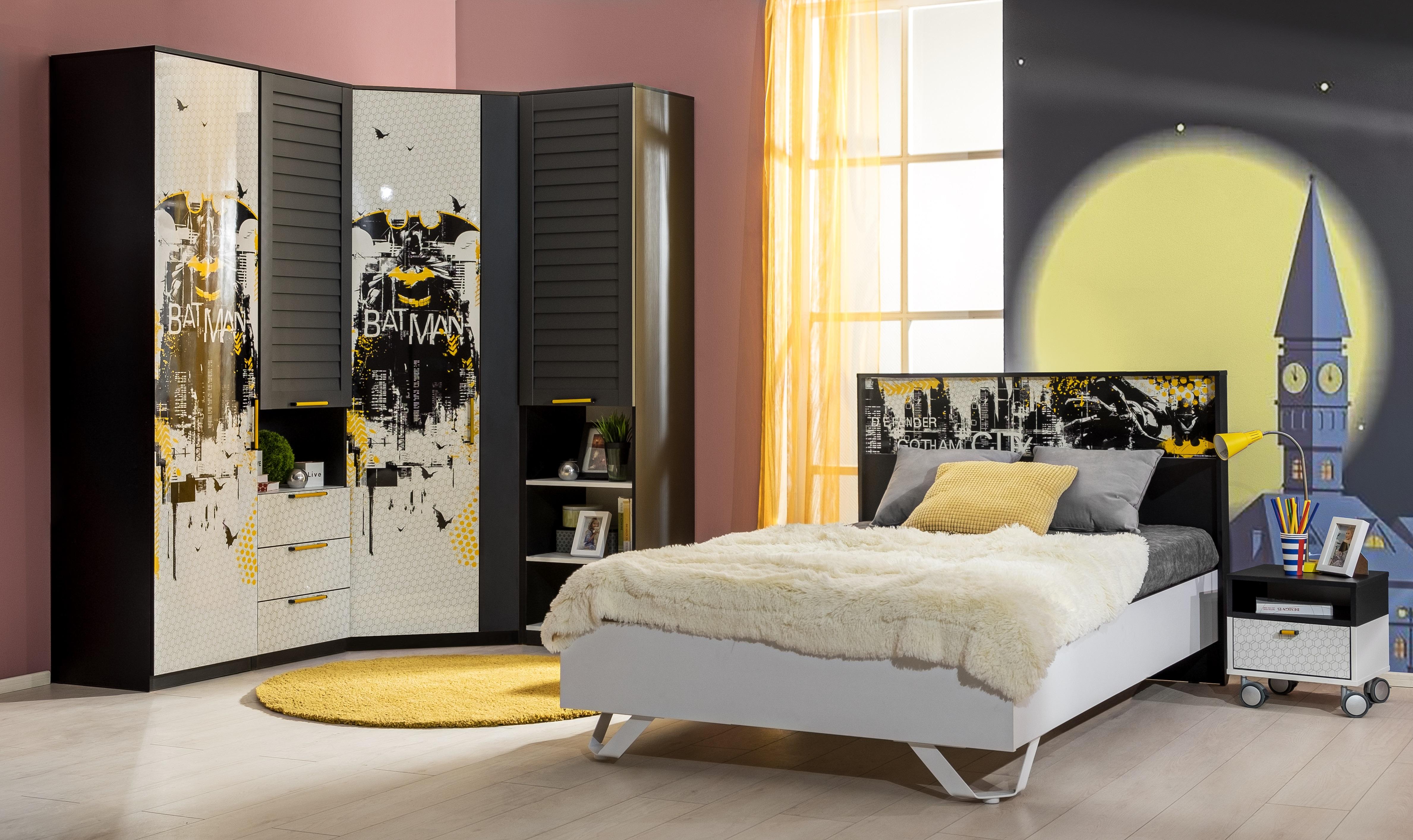 Jugendzimmer Set Batman 6-Teilig