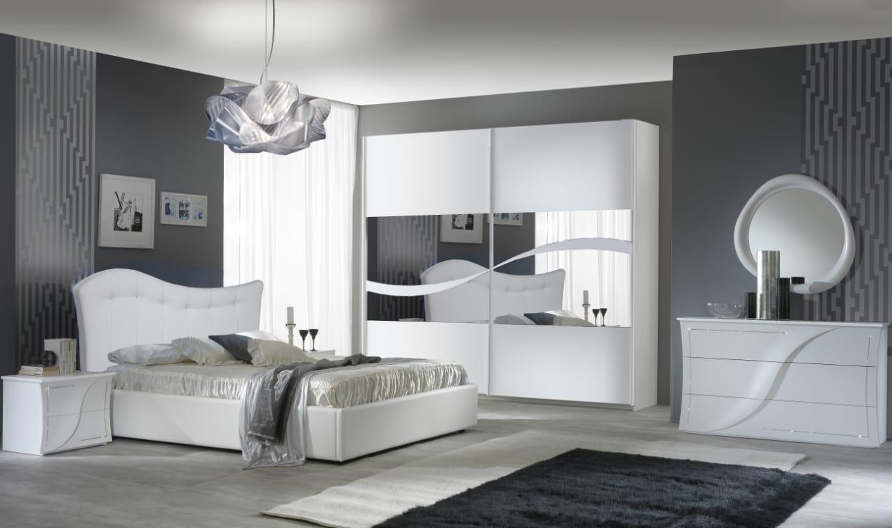 Schlafzimmer Set Luna in Weiss 6-Teilig