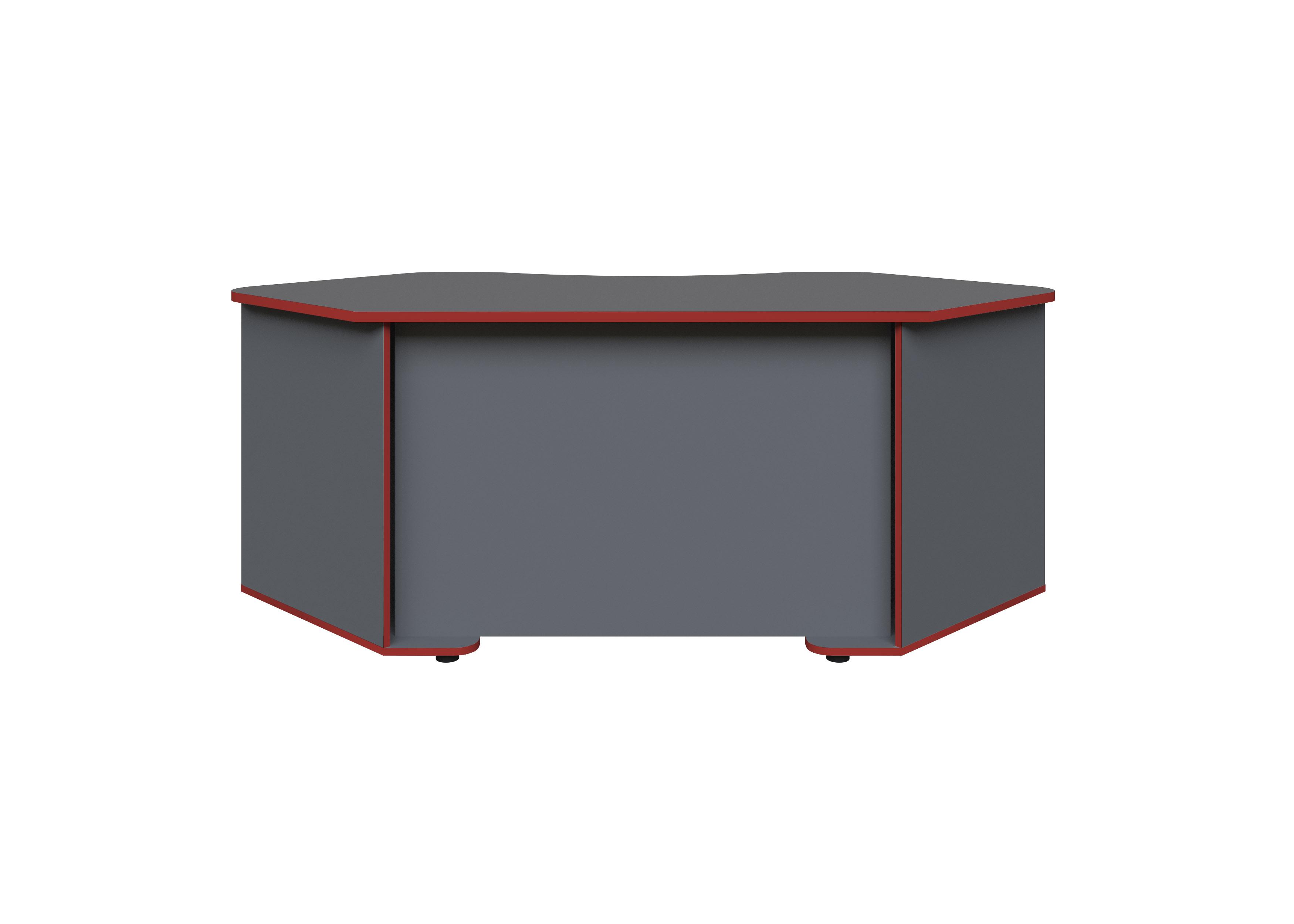 Gamingtisch Xeno, in Anthrazit/Rot für mehrere Monitore