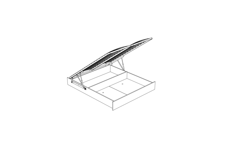 Bettkasten inkl. Lattenrost auf Metallrahmen 140 x 200cm