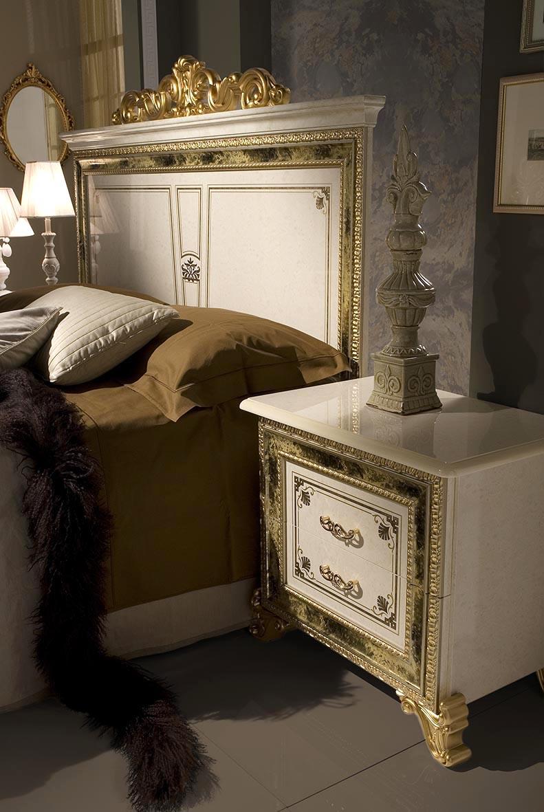 Barock Schlafzimmer Katia in Beige/Gold 6-Teilig