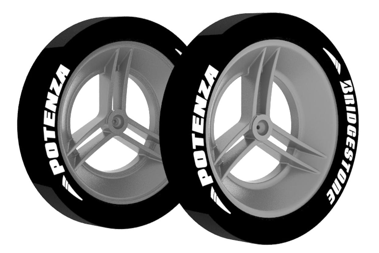 Kunststoffräder Racer 2-Teilig