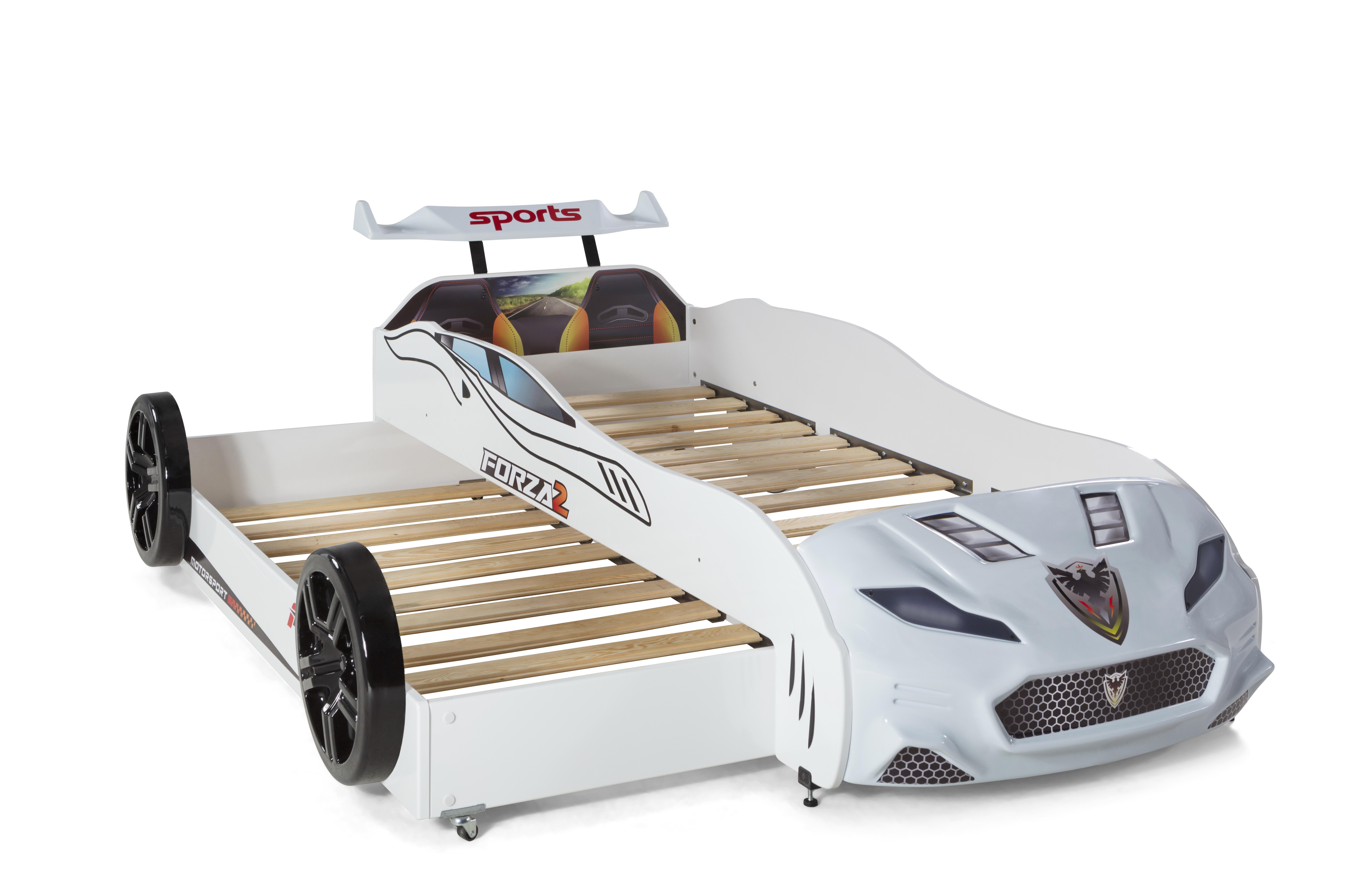 Autobett Coupe mit Gästebett Forza 2 Weiss