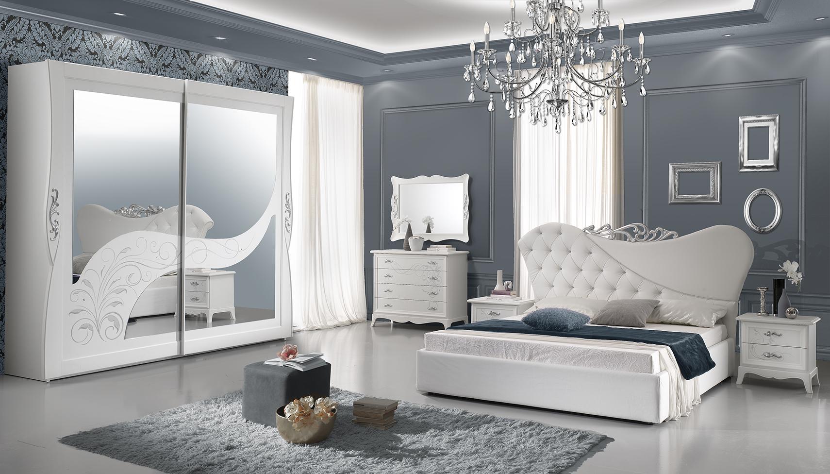 Schlafzimmer Set Dana in Weiss 6-Teilig