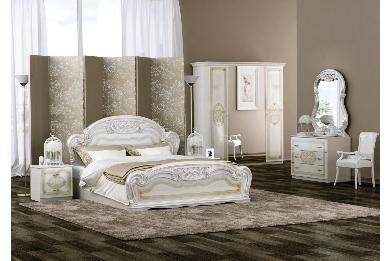 Barock Schlafzimmer Lara in Beige 6-Teilig