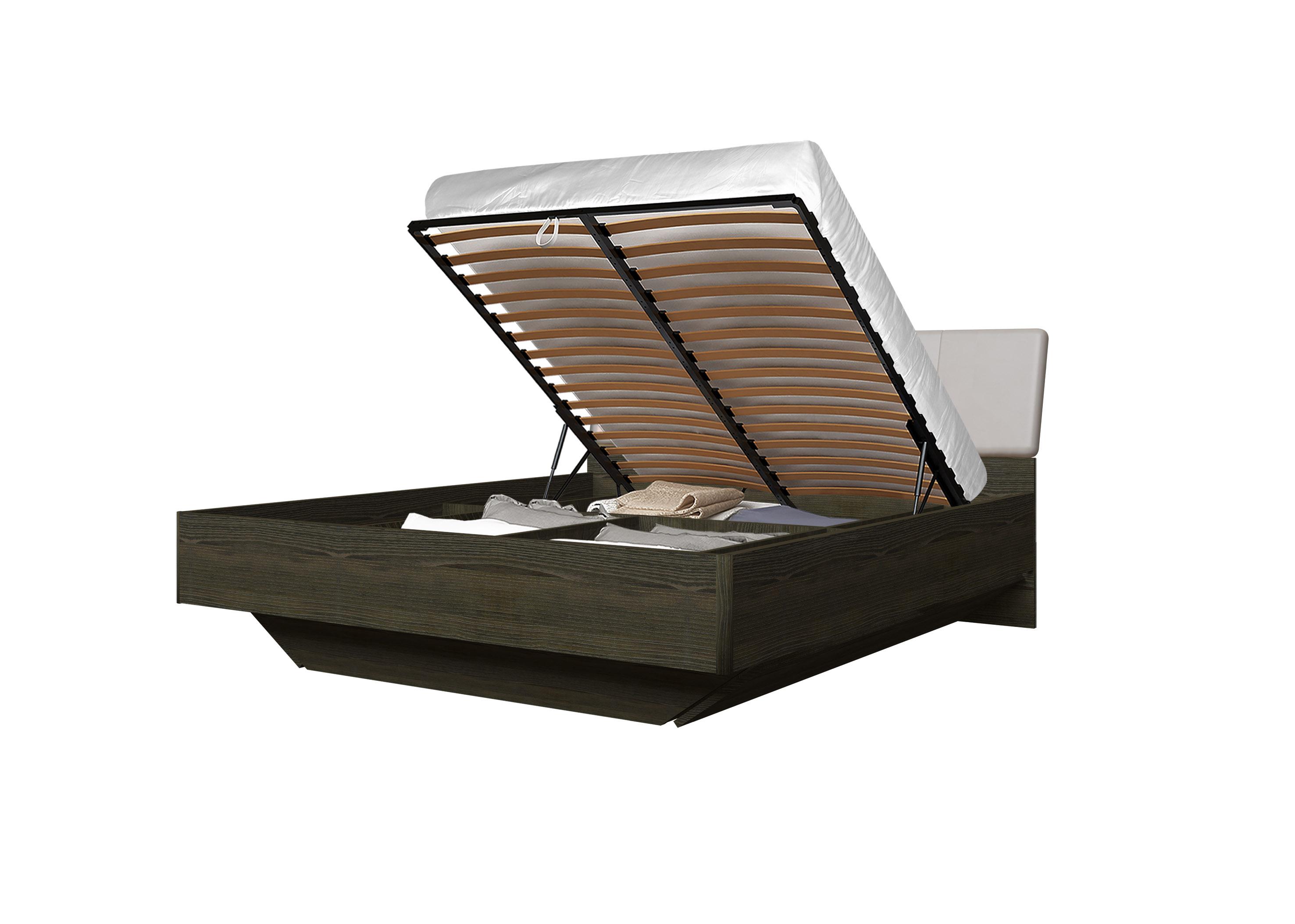 Doppelbett Toskana 180x200 in Dunkle Buche/Cappuccino inkl. Bettkasten