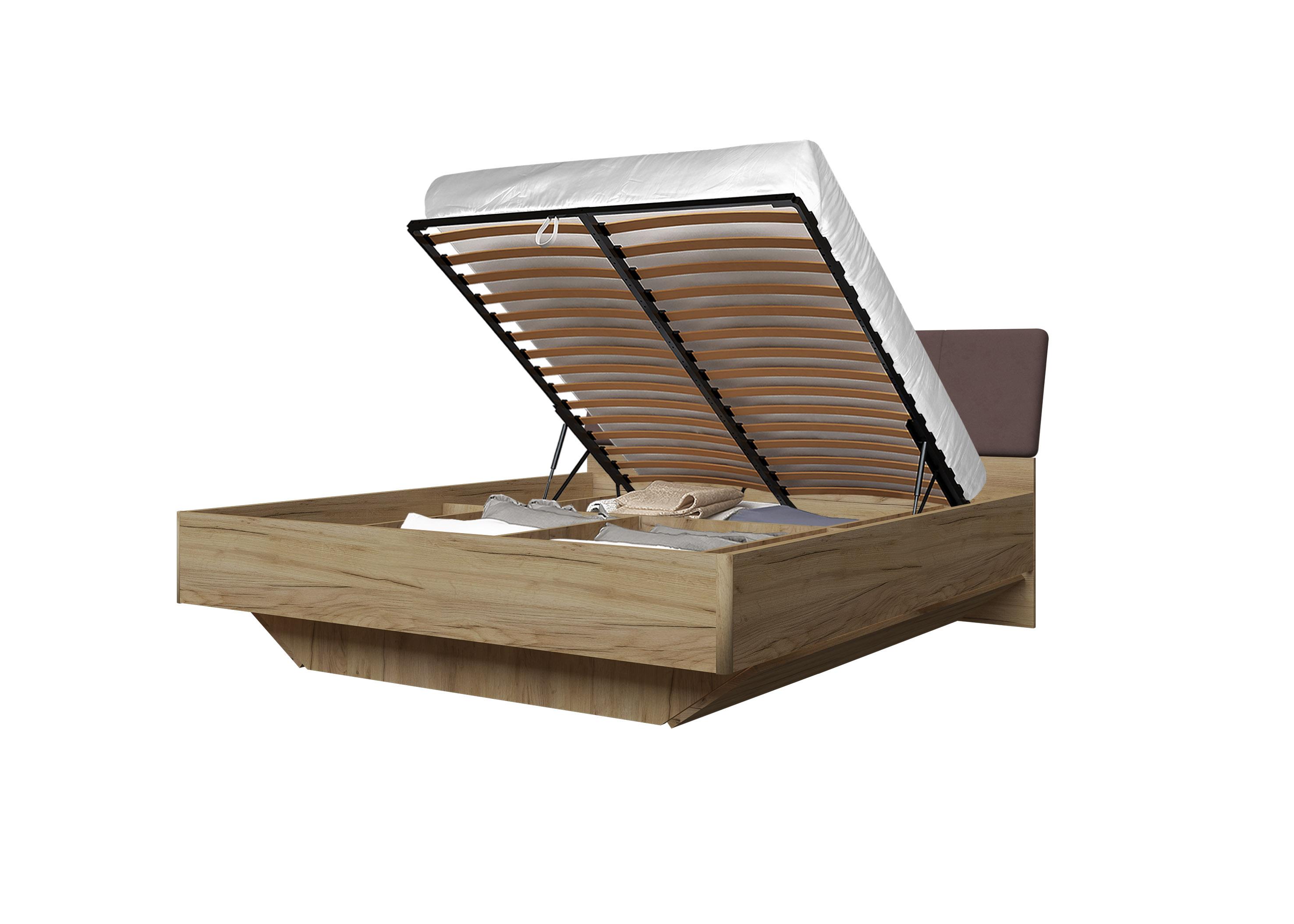 Doppelbett Toskana 180x200 in Eiche/Braun inkl. Bettkasten