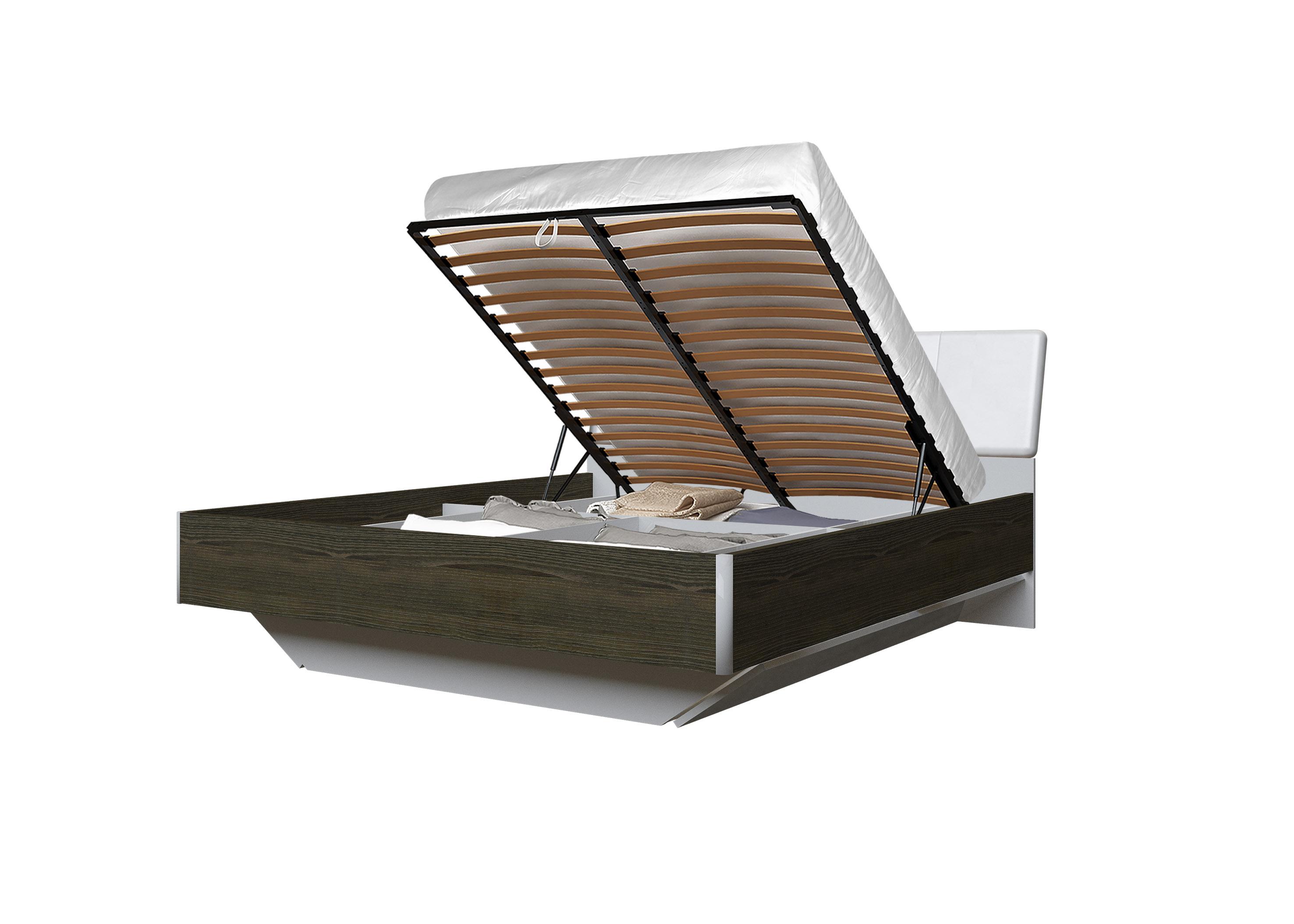 Doppelbett Toskana 180x200 in Dunkle Buche inkl. Bettkasten