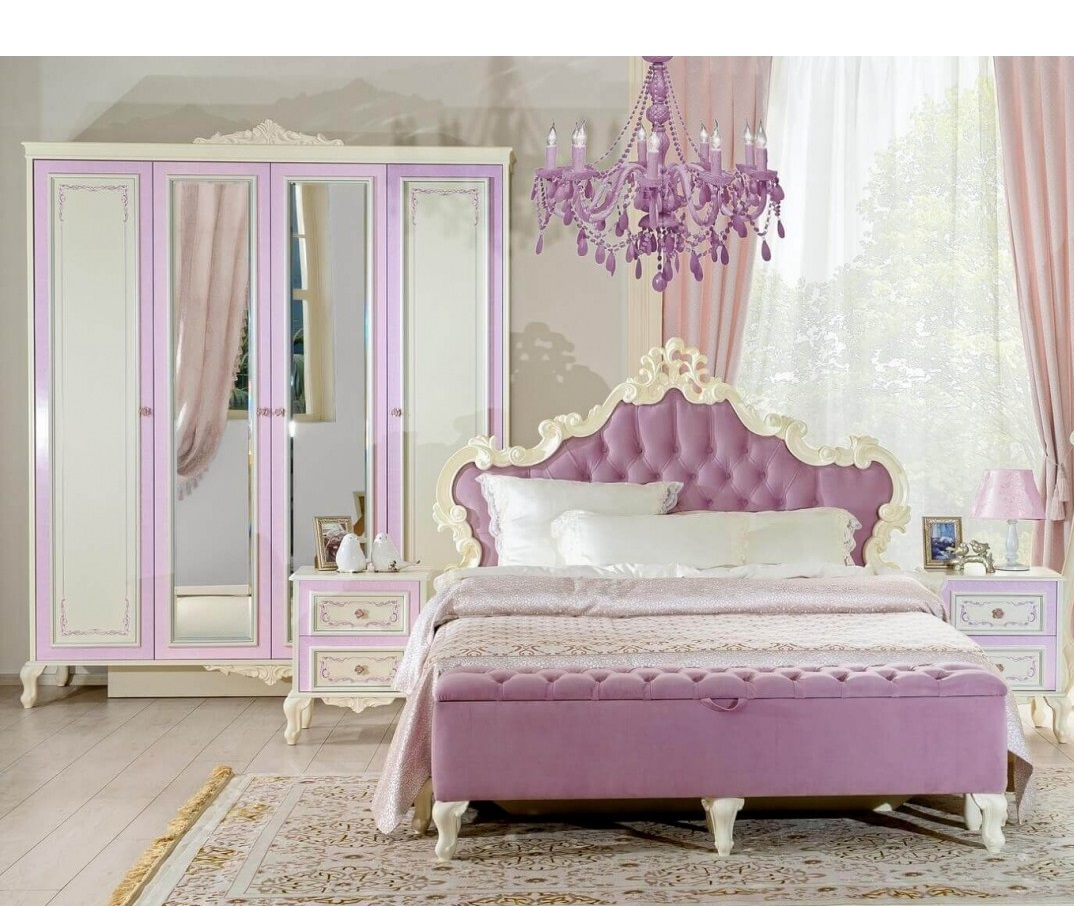 Barock Schlafzimmer Marquisa 5-Teilig