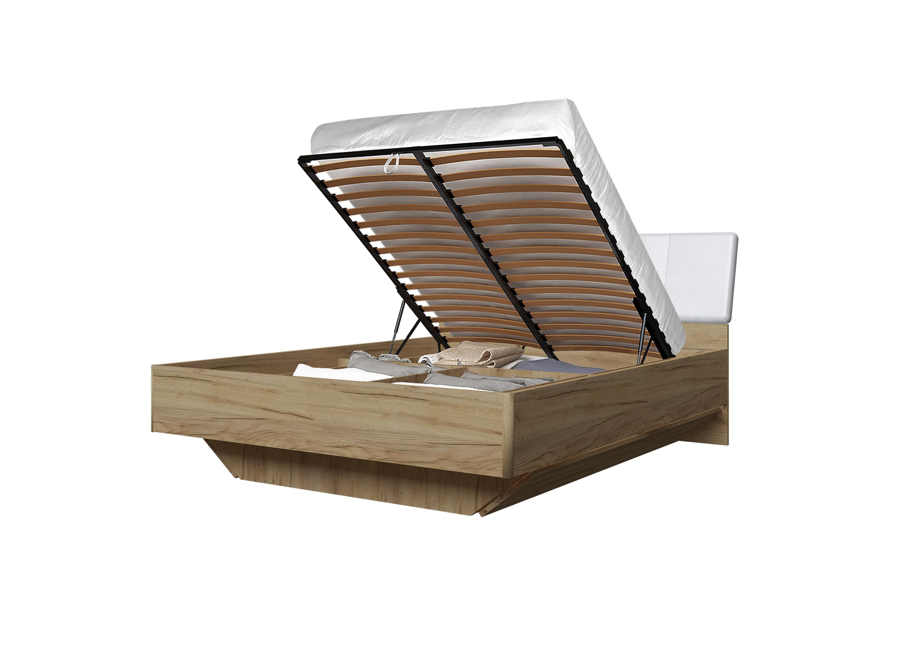 Doppelbett Toskana 160x200 in Eiche/Weiss inkl. Bettkasten