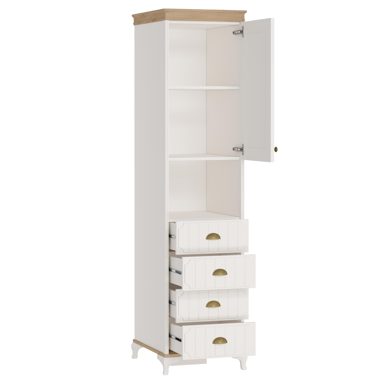 Bücherschrank 1-Türig Villagio inkl. 4-Schubladen