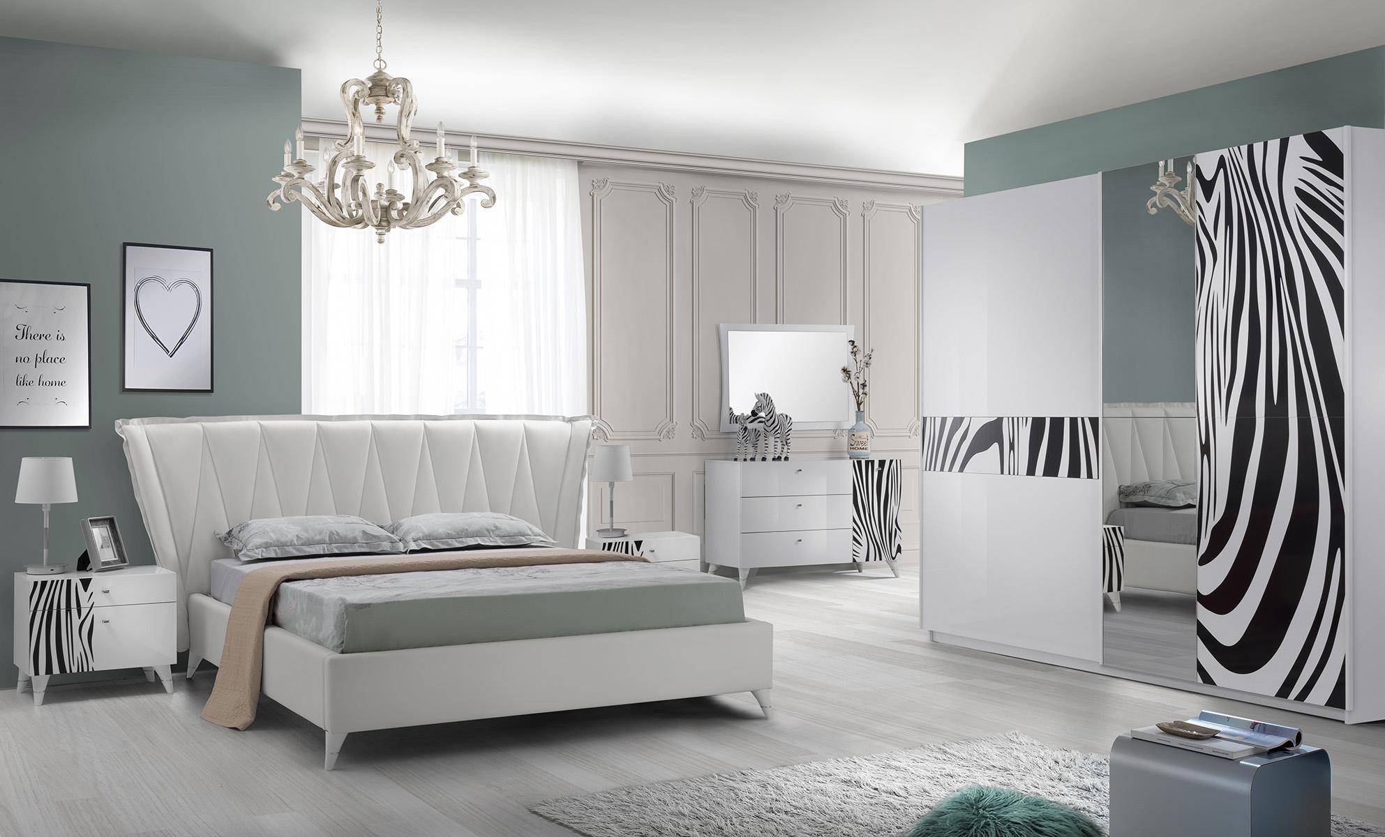 Schlafzimmer Komplett  Set Savana 6-Teilig in Weiss
