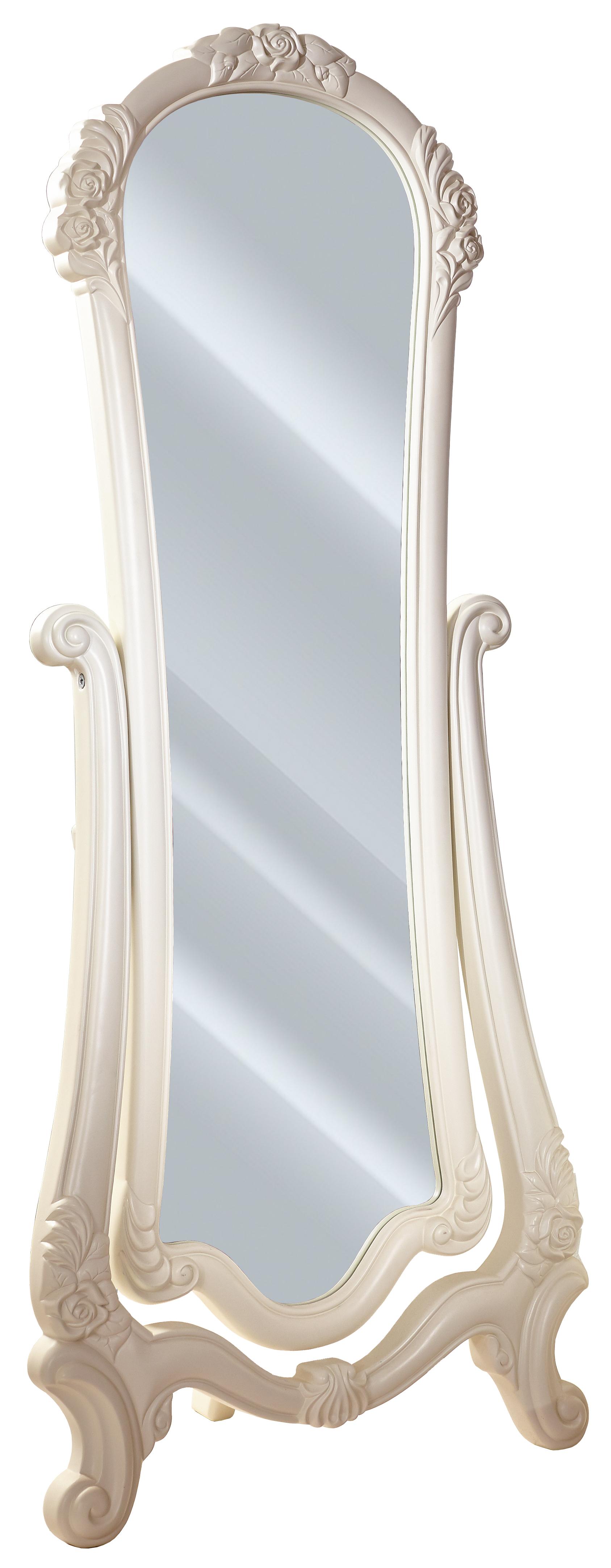 Barock Standspiegel in Weiss Marquisa/Louise